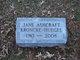 Jane Louise <I>Ashcraft</I> Kroncke Huegel