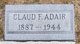Claude F Adair