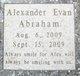 Alexander Evan Abraham