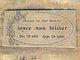 Joyce Ann <I>Bryant</I> Miller