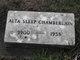 Alta B <I>Sleep</I> Chamberlain