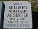"Profile photo:  Mildred ""Millie"" <I>Woltkamp</I> Aegerter"