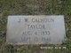 John Wade Calhoun Taylor