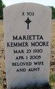 Marietta Kemmer <I>Moore</I> Southwood