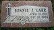 Profile photo:  Bonnie Fern <I>Rarick</I> Carr