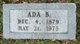 Profile photo:  Ada B <I>Dunseath</I> Brackin