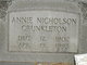Annie Lee <I>Nicholson</I> Crunkleton
