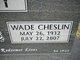 Wade Cheslin Henry