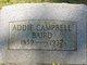 Addie <I>Campbell</I> Baird