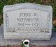 Profile photo:  Jerry W. Batchelor