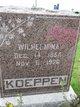 Wilhelmina <I>Wesener</I> Koeppen