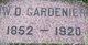 W. D. Gardenier