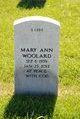 Profile photo:  Mary Ann Woolard