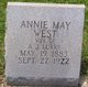 Profile photo:  Annie Mae <I>West</I> Lurry
