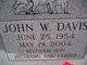 Profile photo:  John Wilburn Davis