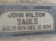 Profile photo:  John Wilson Sauls