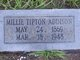 Millie <I>Tipton</I> Addison