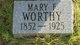 Mary F <I>Bell</I> Worthy