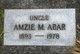 Profile photo:  Amzie Morris Abar