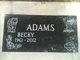 """Rebecca Sue """"Becky"""" <I>Behrends</I> Adams"""