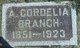 Profile photo:  A Cordelia <I>Witter</I> Branch