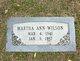 Martha Ann Wilson