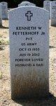"""Pvt Kenneth Walter """"Ken"""" Fetterhoff, Jr"""