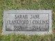 Profile photo:  Sarah Jane <I>Lankford</I> Collins