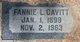 Fannie Lavalla <I>Davidson</I> Cavitt