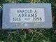 Harold A Abrams