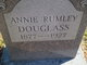 Profile photo:  Annie <I>Rumley</I> Douglass