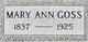Mary Ann <I>Arnold</I> Goss