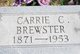 Profile photo:  Carrie C. Brewster