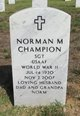 Profile photo:  Norman Marshal Champion