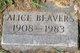 Profile photo:  Alice Beavers