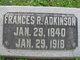 Profile photo:  Frances Ann <I>Roberts</I> Adkinson
