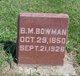 Profile photo:  Benjamin M. Bowman