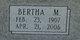 Bertha M. Allen
