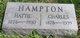 Profile photo:  Hattie <I>Davidson</I> Hampton