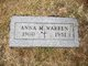 Anna M. <I>Cunningham</I> Warren