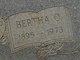 Profile photo:  Bertha <I>O'Shields</I> Bennett