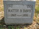 Mattie Belle <I>Gum</I> Davis