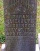 Sarah Elizabeth <I>Burchfield</I> Dickinson