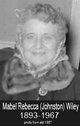 Mabel Rebecca <I>Johnston</I> Wiley
