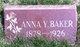 Anna <I>Yeske</I> Baker