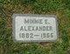 Profile photo:  Minnie Evelyn <I>Garlock</I> Alexander