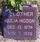 Julia <I>McDonald</I> Higdon