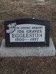 Profile photo:  Ida Isabel <I>Graves</I> Eggleston
