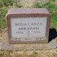 Anna <I>Lanza</I> Abraham