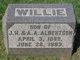 Profile photo:  Willie Albertson